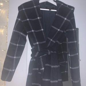 Ann Taylor plaid wool coat